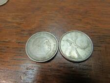 1960 Canada coin Quarter Silver 1957  5 PTAS  Quarter Silver Coin Espana (17F1)