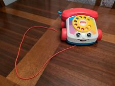 Fisher-Price Chatter Telephone Pull-Along Play Phone Eyes Roll Up and Down EUC