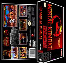 Mortal Kombat - SNES Reproduction Art Case/Box No Game.