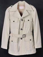 Vintage McGregor Sherpa Lined Safari Field Jacket Mens 38 Belted