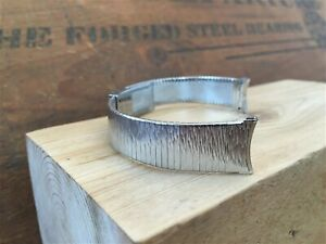 rare Bulova Stainless Steel 17mm nos 1970s Vintage Watch Band
