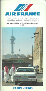 Air France advance system timetable 3/26/84