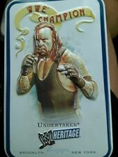 2007 WWE Wrestling Topps Heritage 3d World Champion Shawn Michaels White Tin