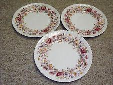 Vintage Johnson Bros Margaret Rose Windsor Ware 3 Dinner Plates
