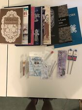 Tatting, Tapestry Needles And Books Lot