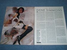 1988 Interview Article with Kiss Front Man Gene Simmons
