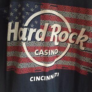 NWT Hard Rock Casino Cincinatti T Shirt Navy Blue Size Medium