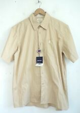 NWT PEPE JEANS London Mens Tan Chino Button Front Short Sleeve Shirt Size XL