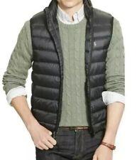 New Mens Polo Ralph Lauren Large Down Black Puffer Vest Jacket RRL RLX Sport