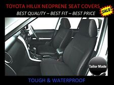 FRONT PAIR NEOPRENE SEAT COVERS SUITS HILUX SR / SR5 (JUNE 2005 - AUGUST 2015)