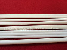 """2"""" Diameter by 24"""" Inch White Color PTFE Rod TFE Plastic Bar, Roundstock"""