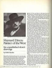 Maynard Dixon - Partner Of The Western Desert