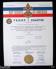 1964 BOY SCOUT - TROOP CHARTER - TROOP 161- MOUNT CARMEL, PENNSYLVANIA