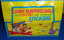 Vintage Sealed Box of 24 Flintstones Candy Surprise Ball with Stickers 1979