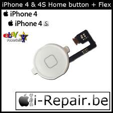 iPhone 4 Home Button + Flex Cable l Homebutton l Bouton l Knop l WHITE