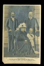 Royalty 4 generations Vicoria EVII GV EVIII heavily embossed PPC back removed