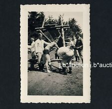 Shirtless Soldiers Outdoor spanking/sedere sederino * WW II PHOTO GAY INT