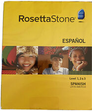 *NIB* Rosetta Stone Spanish Espanol Level 1, 2 & 3 Version 3 CDs for PC and Mac