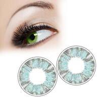 1 Pairs Contact Lenses Dreamy Color Soft Big Eye Cosmetic Lenses Green Clover AZ