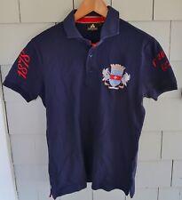 Men's Blue SAINT BARTHELEMY Coats of Arms POLO SHIRT, SMALL - Ouanalao ST. BARTS