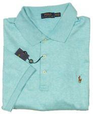 Polo Ralph Lauren Big & Tall Men's Blue Heather Interlock Short Sleeve Polo
