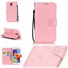 Butterfly Wallet Leather Flip Case Cover For Samsung S2 S3 S4 S5 S6 S7 S8 S9 J3