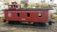 Roundhouse MDC HO Old Time Caboose, Rio Grande, Upgraded, Exc.