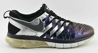 MENS NIKE FINGERTRAP MAX RUNNING SHOES PURPLE SILVER BLACK 644672 501 SIZE 11.5