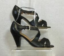 Peep Toes 100% Leather Cuban Heels for Women