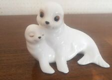 Royal Osborne Bone China Seal Mum and pup.  Perfect condition.  Very cute!