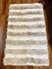 Nate Berkus Bath Rug, Target. Tan & White. 20.5 X 34.5, Cotton & Linen. Clean!