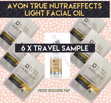 AVON Nutraeffects Lightweight Facial Oil 6 x Samples Travel Sachets FREE P&P