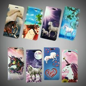 UNICORN PRINTS FOR APPLE IPHONE 4 4S & OTHER MODELS BOOK WALLET PHONE CASE COVER