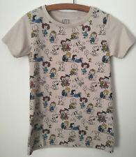 """Peanuts Gang Uniqlo Character T-Shirt Womens XS - 32""""  Charlie Brown Snoopy Soft"""