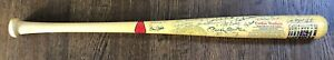 New York Yankee Stadium Bat signed by 19 Yankees 8 Hall of Famers Mickey Mantle