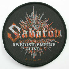 SABATON official woven Parche SUECO EMPIRE tejido Licencia parche Power Metal