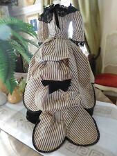 """Antique Fashion Doll Dress 1800'S, Exquisite, For French Or German 18"""""""