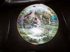 Franklin Mint Collectors Plate A cozy glen limited edition heirloom vintage home