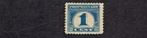 1919 U.S.Proprietary 1 Cent Dark Blue NUMERAL Sc#R65 Appears M/NG
