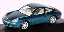 PORSCHE 911 996 CARRERA COUPÉ 1997-2006 bleu lagon bleu métallisé 1:87 HERPA