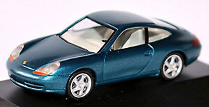 Porsche 911 996 Carrera Coupe 1997-2006 Lagoon Blue Metallic 1:87 Herpa