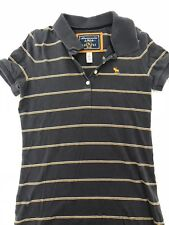 Abercrombie & Fitch Polo Women's - Blue with gold stripes - Size S