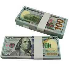100Pcs $10000 BEST PROPS MONEY Full Print Prop Movie Fake Money Prank Joke Toys