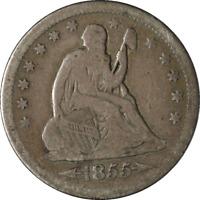1855-O Seated Liberty Quarter Arrows Nice VG+ Nice Eye Appeal Nice Strike