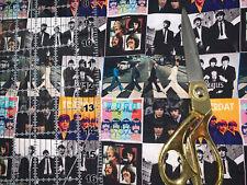 "Beatles Band  100 % Cotton Fabric 9""x56"" 1/4 Yard Ships Fast!!"