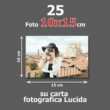 Stampa 25 foto digitali 10x15 SU CARTA FOTOGRAFICA PROFESSIONALE