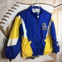 St Louis LA RAMS Boys Large 14-16 Football Jacket Windbreaker Lined