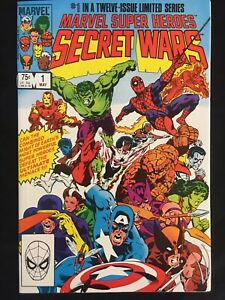 Marvel Super Heroes Secret Wars #1 VF+ Blue Galactus Error Variant MARVEL 1984