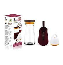 NEW FOSa O2Go Combo set, Wine Vacuum unit plus glass jug 34oz and pouch bag