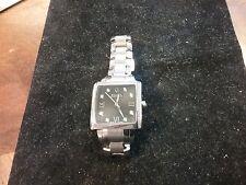 Bulova Accutron 63R104 Diamonds Black Dial Masella Silver Tone Womens Watch